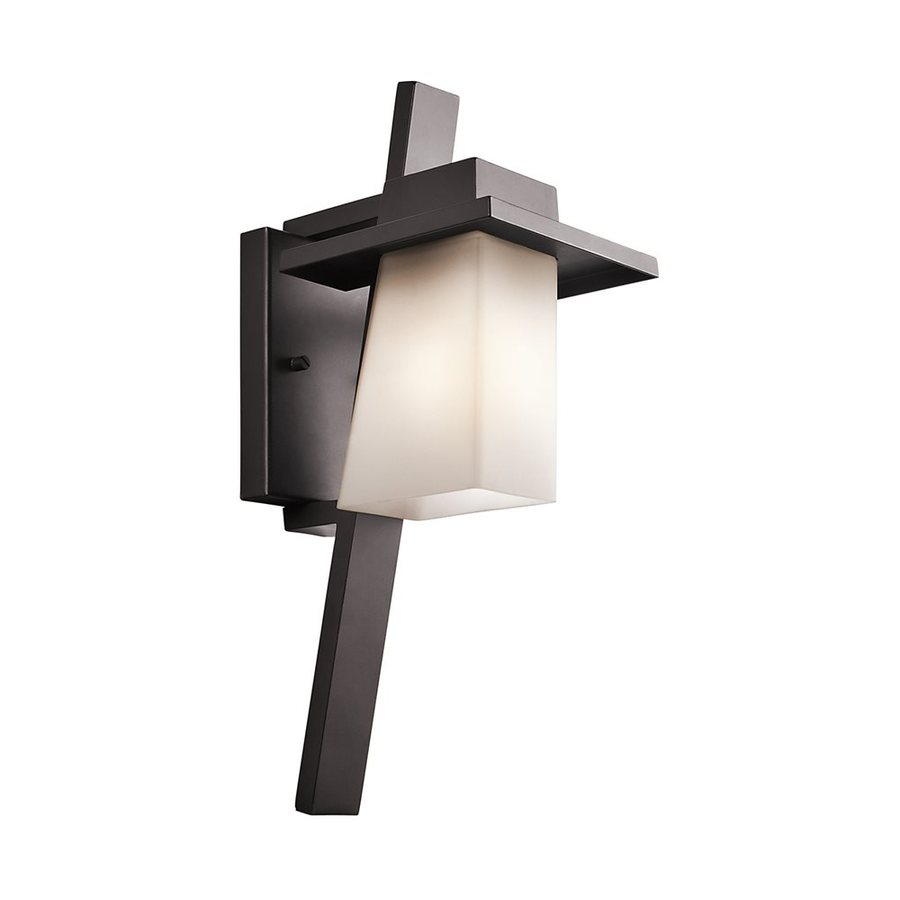 Kichler Lighting Stonebrook 17.75-in H Architectural Bronze Outdoor Wall Light
