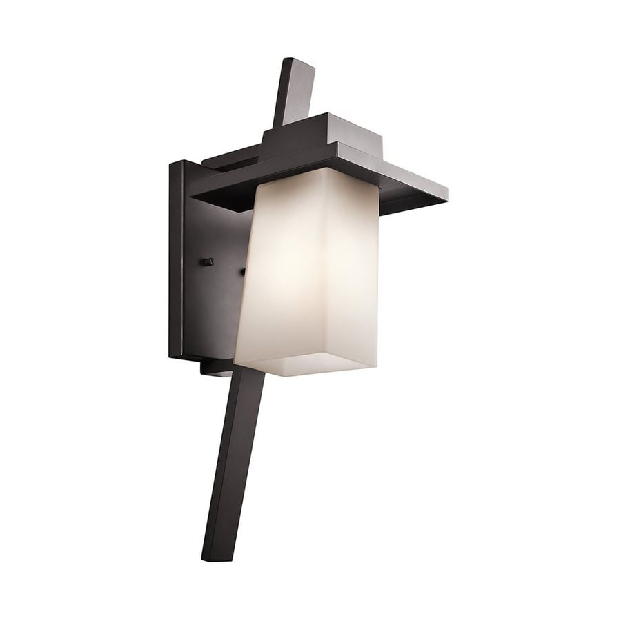 Kichler Stonebrook 23.25-in H Architectural Bronze Outdoor Wall Light