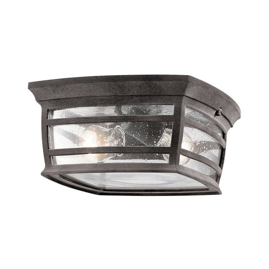 Kichler Mcadams 11.5-in W Weathered Zinc Outdoor Flush-Mount Light