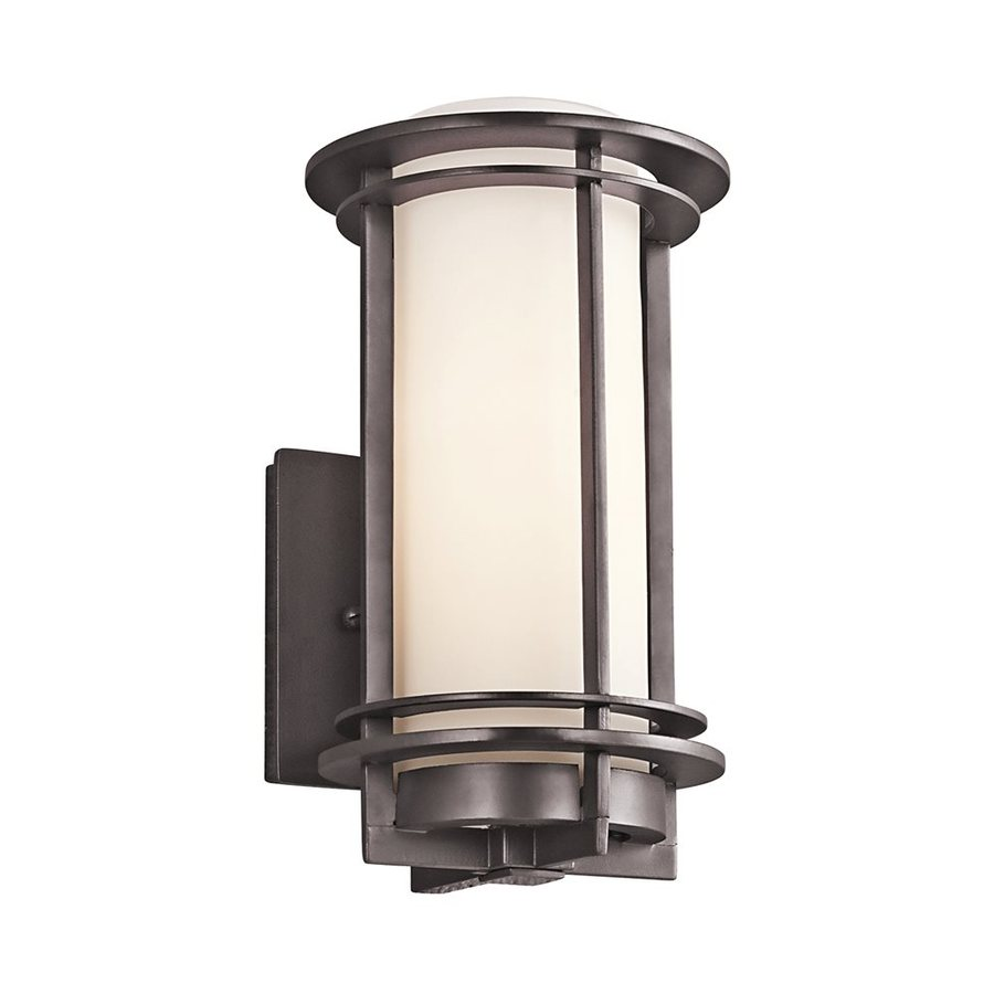 Kichler Pacific Edge 10.75-in H Architectural Bronze Outdoor Wall Light