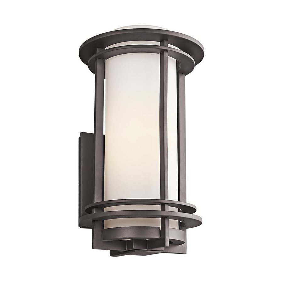 Exterior Wall Lights Architectural : Shop Kichler Pacific Edge 16-in H Architectural Bronze Outdoor Wall Light at Lowes.com