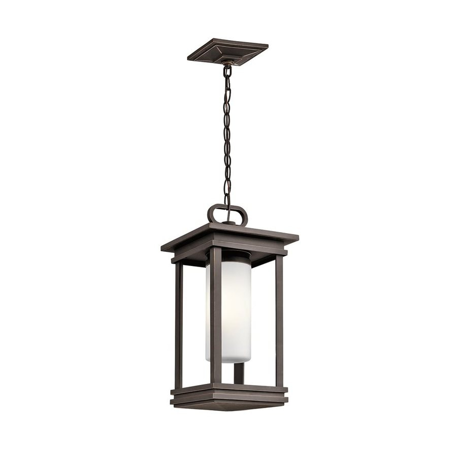 Kichler Lighting South Hope 19-in Rubbed Bronze Outdoor Pendant Light