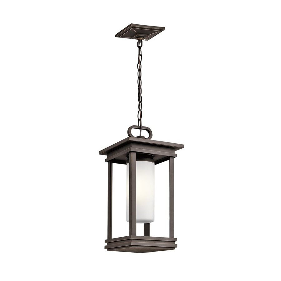 Kichler South Hope 19-in Rubbed Bronze Outdoor Pendant Light