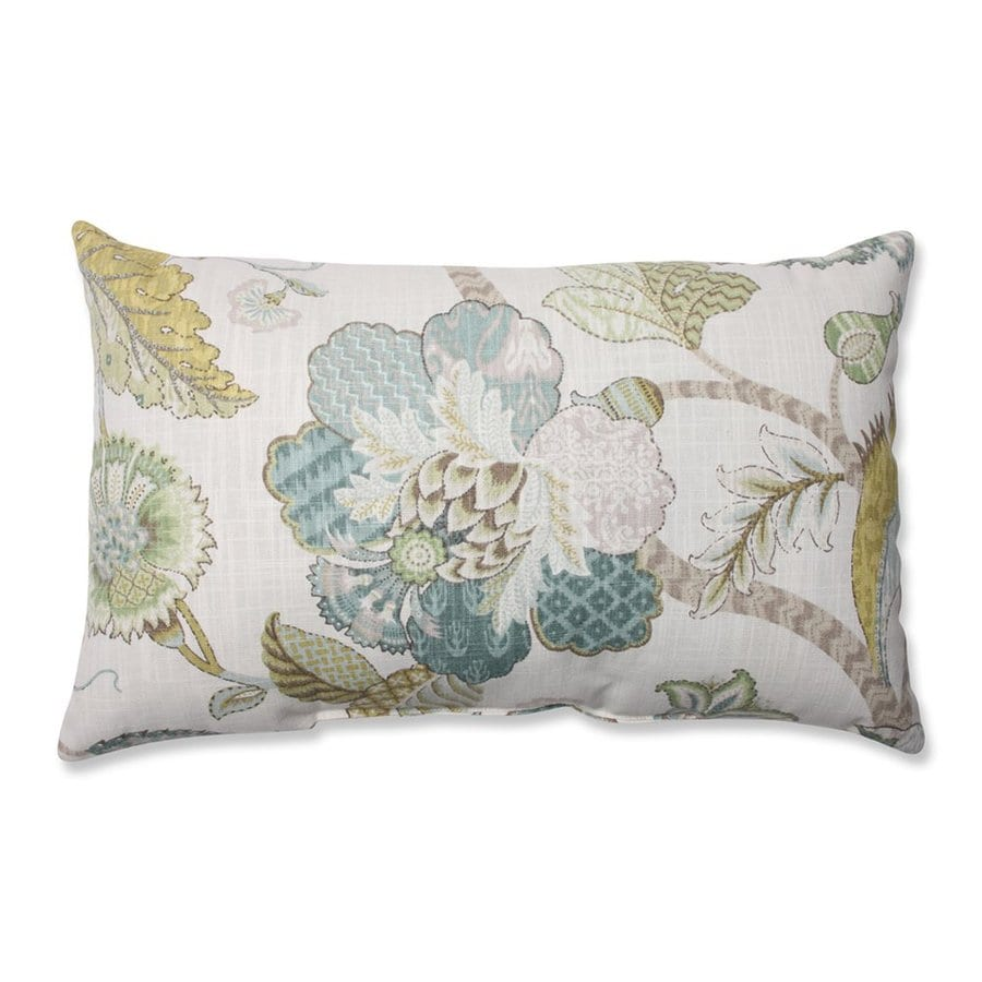 Pillow Perfect 11.5-in W x 18.5-in L Finders Keepers Peacock Indoor Decorative Pillow