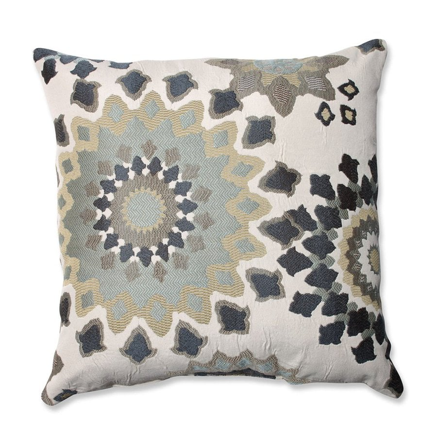 Pillow Perfect 18-in W x 18-in L Marais English Garden Indoor Decorative Pillow