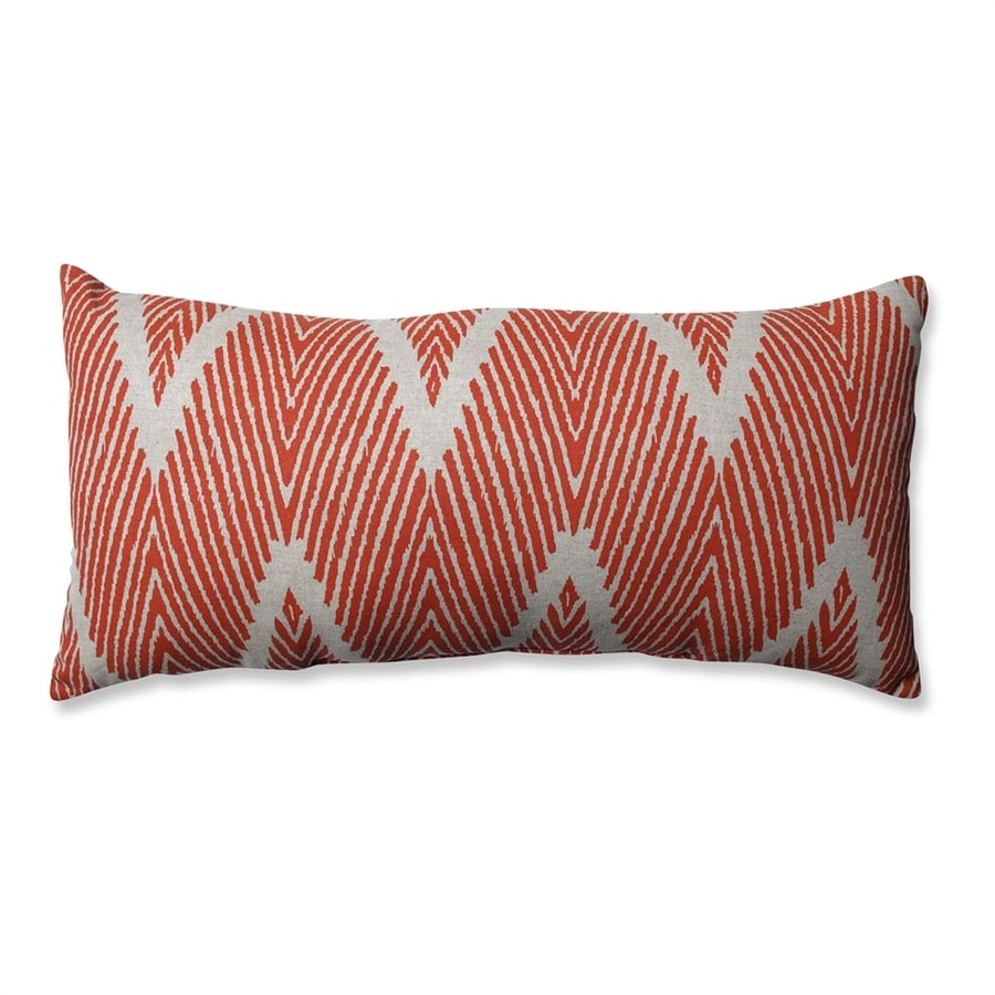 Pillow Perfect Bali 1-Piece 11.5-in W x 23-in L Mandarin Rectangular Indoor Decorative Pillow