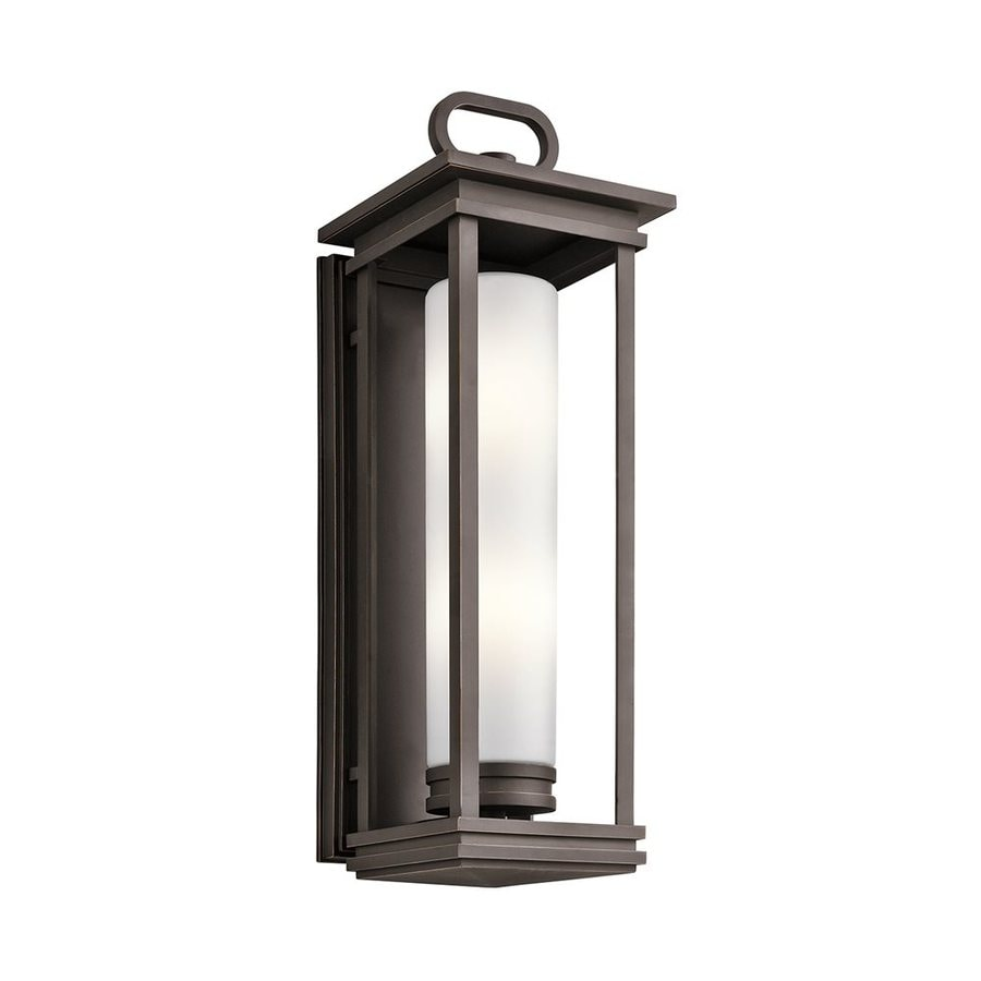 Shop Kichler South Hope 28 In H Rubbed Bronze Outdoor Wall Light At