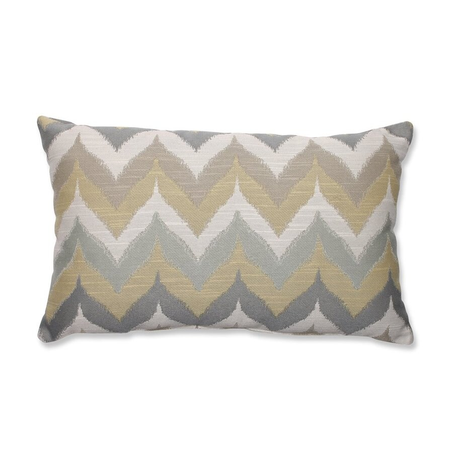 Pillow Perfect 11.5-in W x 18.5-in L Gold/Yellow Indoor Decorative Pillow