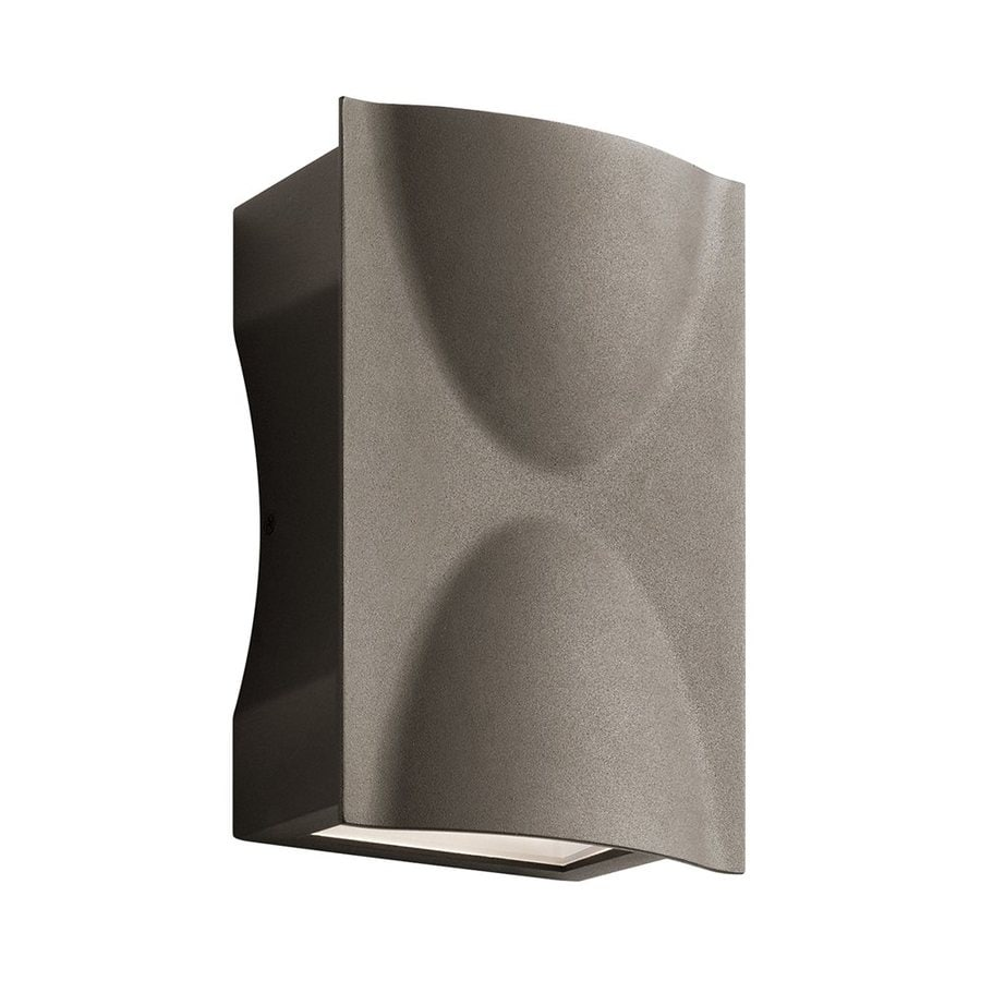 Kichler Brive 9-in H Led Textured Architectural Bronze Outdoor Wall Light