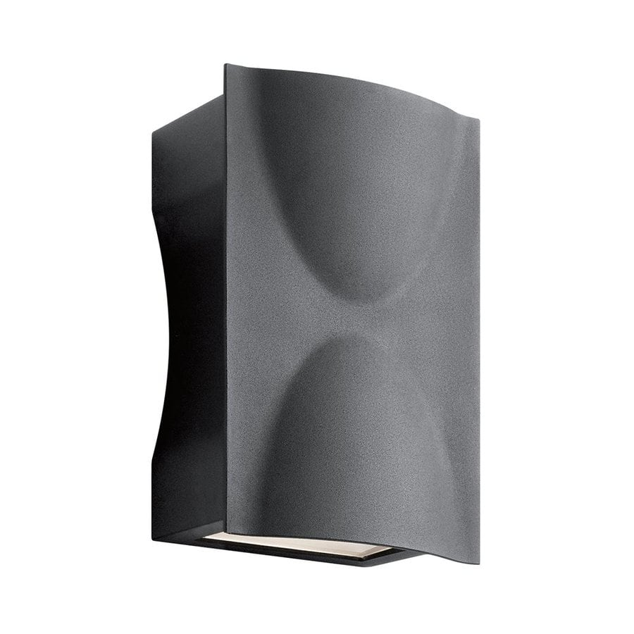Kichler Lighting Brive 9-in H Led Textured Black Outdoor Wall Light