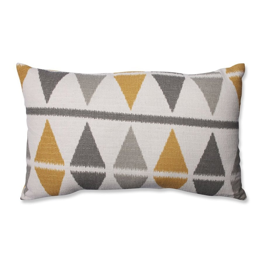 Shop Pillow Perfect 11.5-in W x 18.5-in L Grey Rectangular Indoor Decorative Pillow at Lowes.com