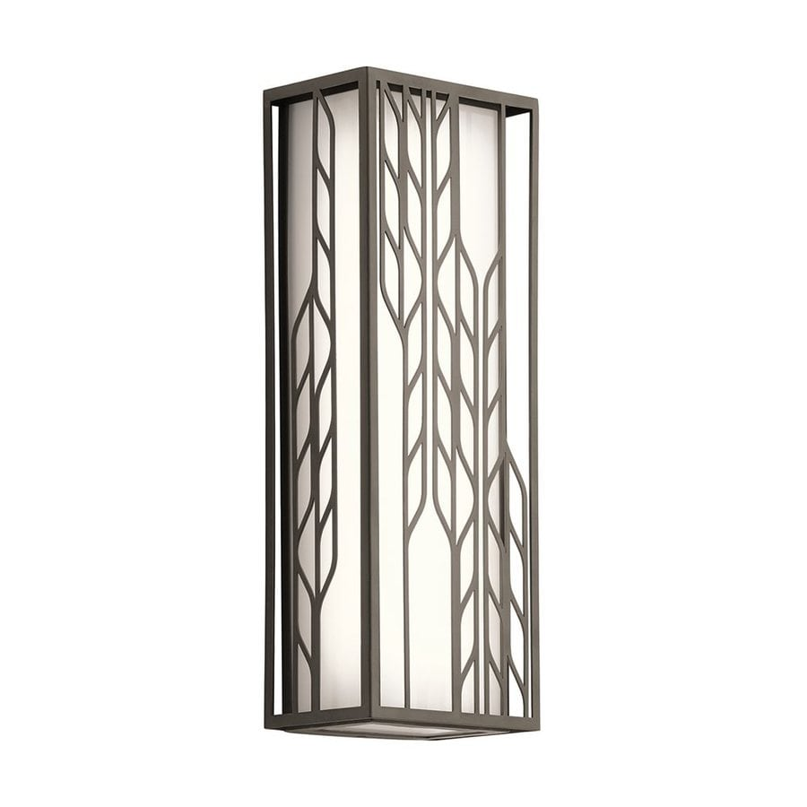 Kichler Magnolia 16-in H Led Olde Bronze Outdoor Wall Light