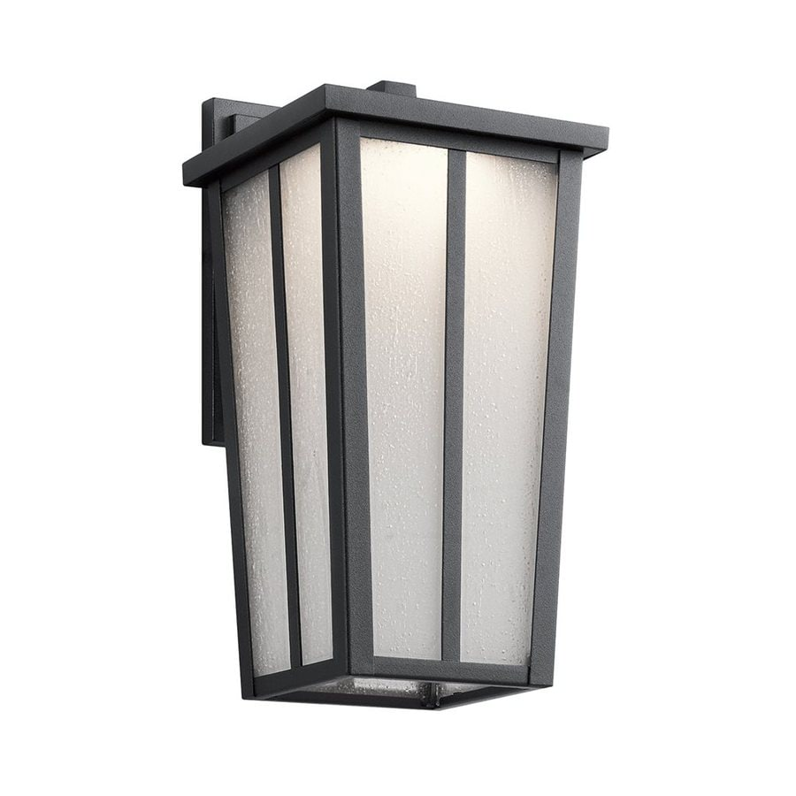 Kichler Amber Valley 13-in H Led Textured Black Outdoor Wall Light