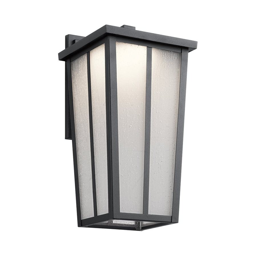 Kichler Amber Valley 15-in H Led Textured Black Outdoor Wall Light