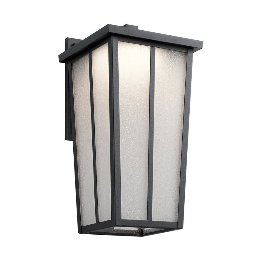 Kichler Amber Valley 17.25-in H Led Textured Black Outdoor Wall Light