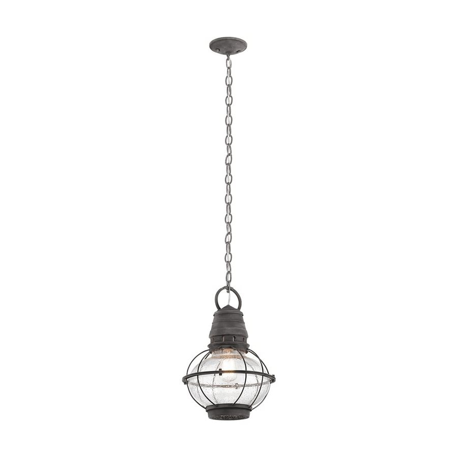 Kichler Lighting Bridge Point 16-in Weathered Zinc Outdoor Pendant Light
