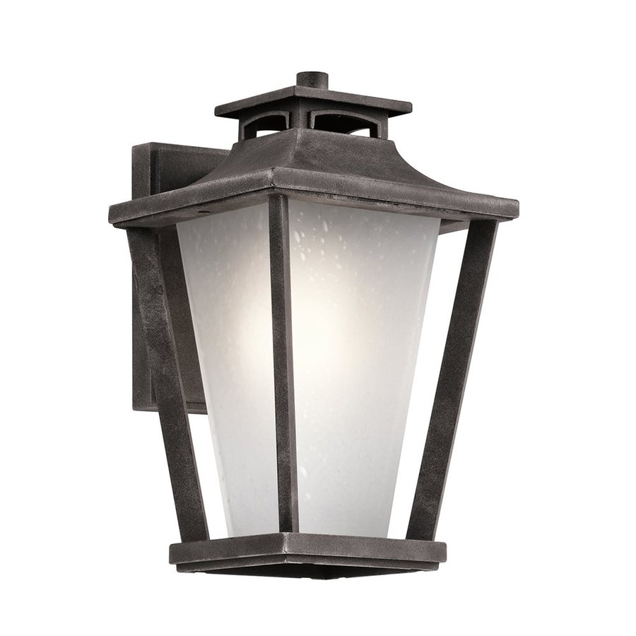 Kichler Sumner Court 11.75-in H Weathered Zinc Outdoor Wall Light