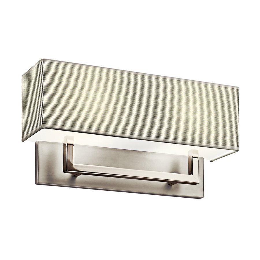Kichler 16.25-in W 1-Light Satin Nickel Pocket Wall Sconce
