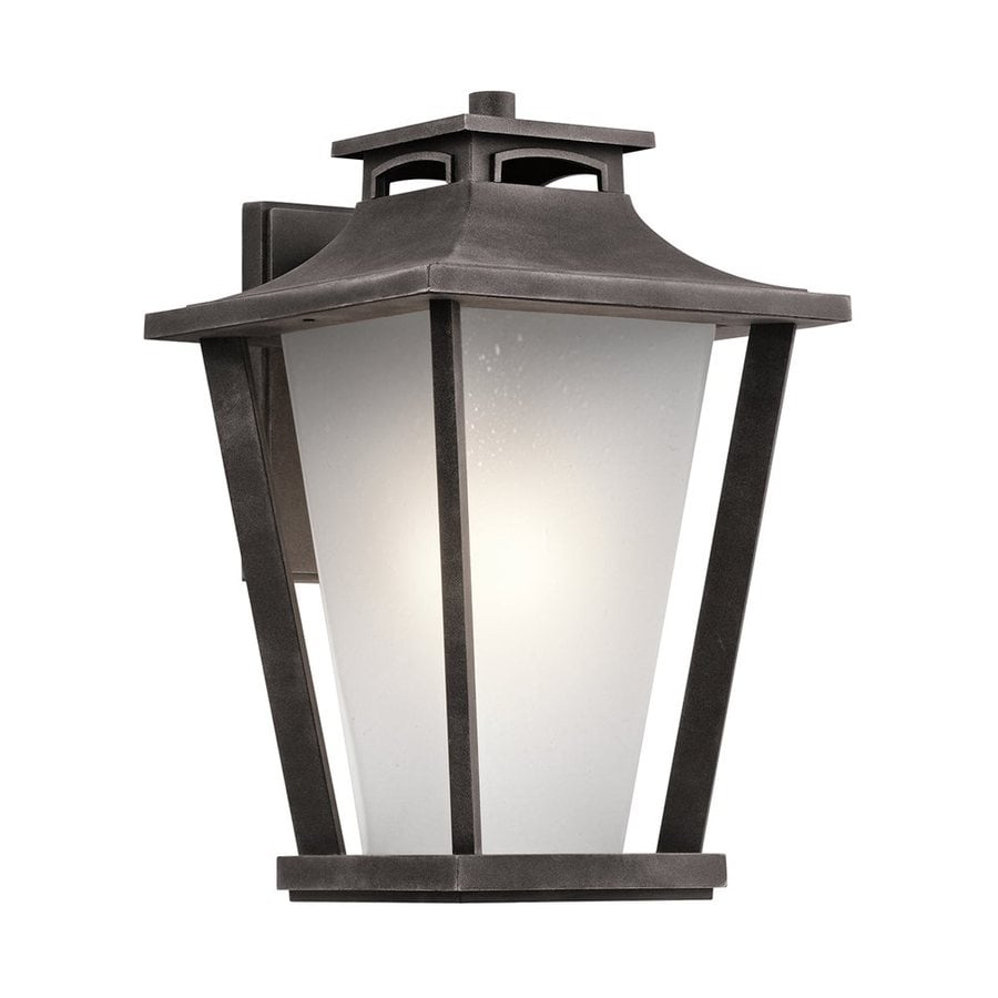 Kichler Sumner Court 18.25-in H Weathered Zinc Outdoor Wall Light