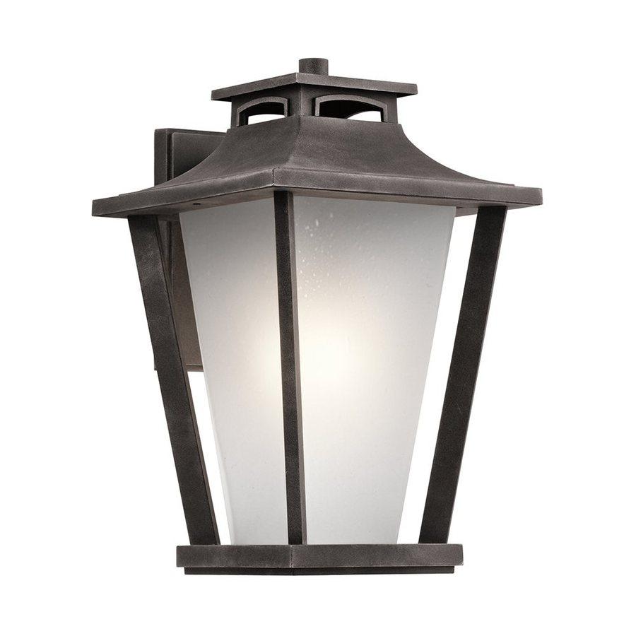 Kichler Lighting Sumner Court 18.25-in H Weathered Zinc Outdoor Wall Light