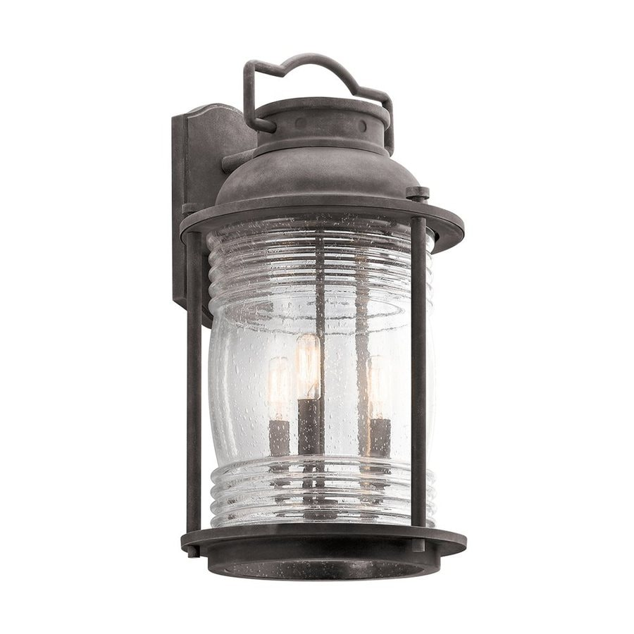 Kichler Lighting Ashland Bay 21.5-in H Weathered Zinc Outdoor Wall Light