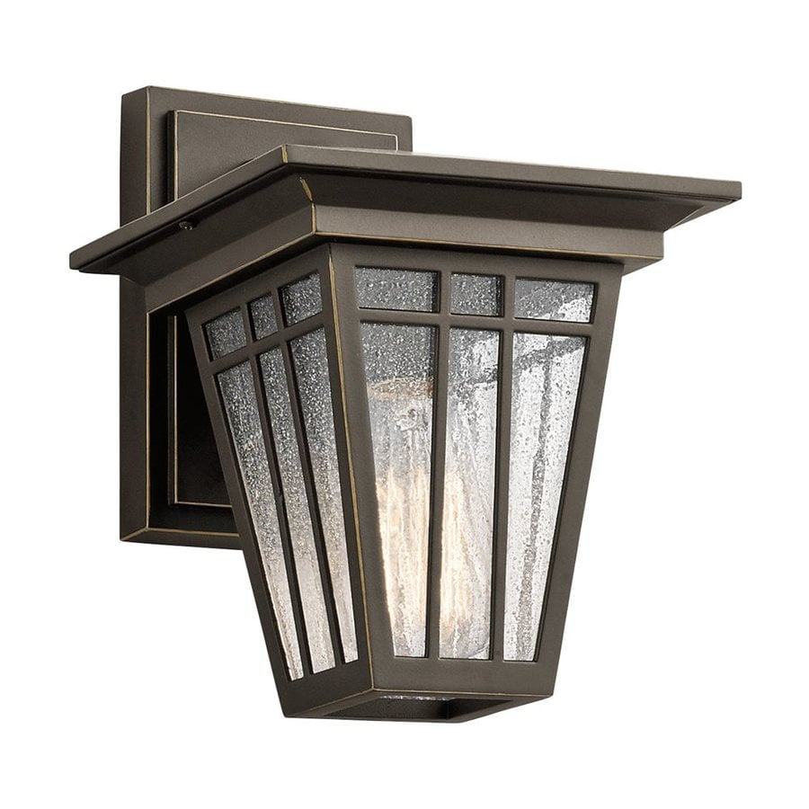 Kichler Lighting Woodhollow Lane 9.5-in H Olde Bronze Outdoor Wall Light