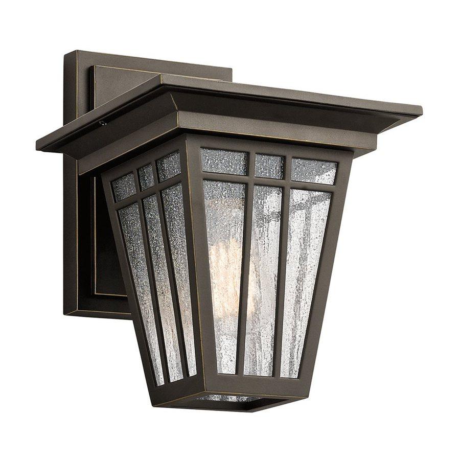 Kichler Lighting Woodhollow Lane 11.5-in H Olde Bronze Outdoor Wall Light