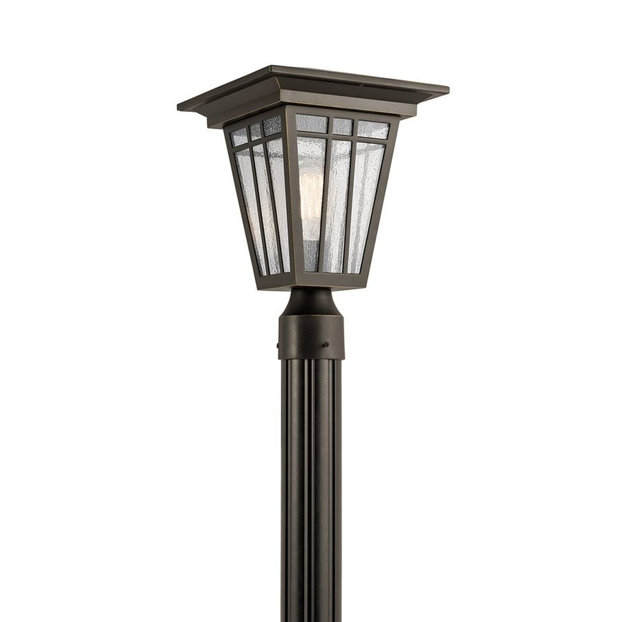 Kichler Woodhollow Lane 14.5-in H Olde Bronze Post Light