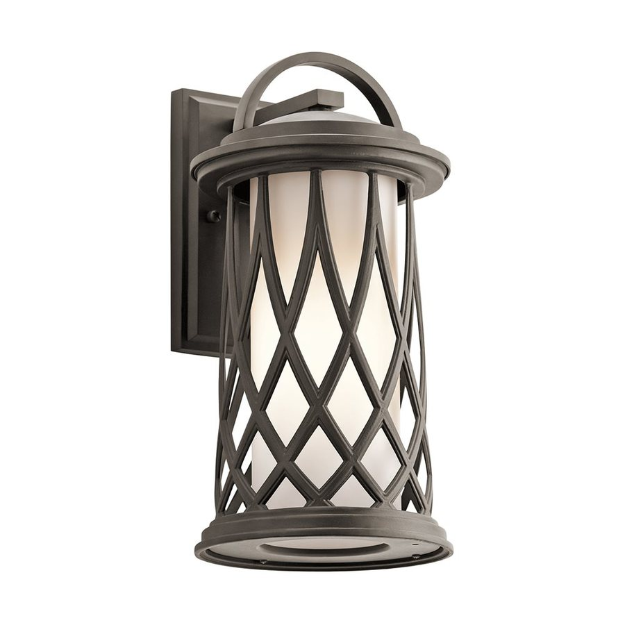 Kichler Lighting Pebble Lane 15.5-in H Olde Bronze Outdoor Wall Light