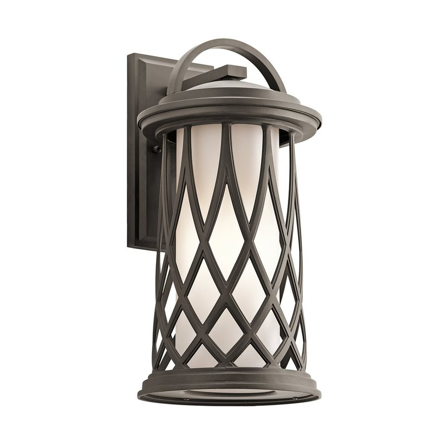 Kichler Pebble Lane 18.5-in H Olde Bronze Outdoor Wall Light