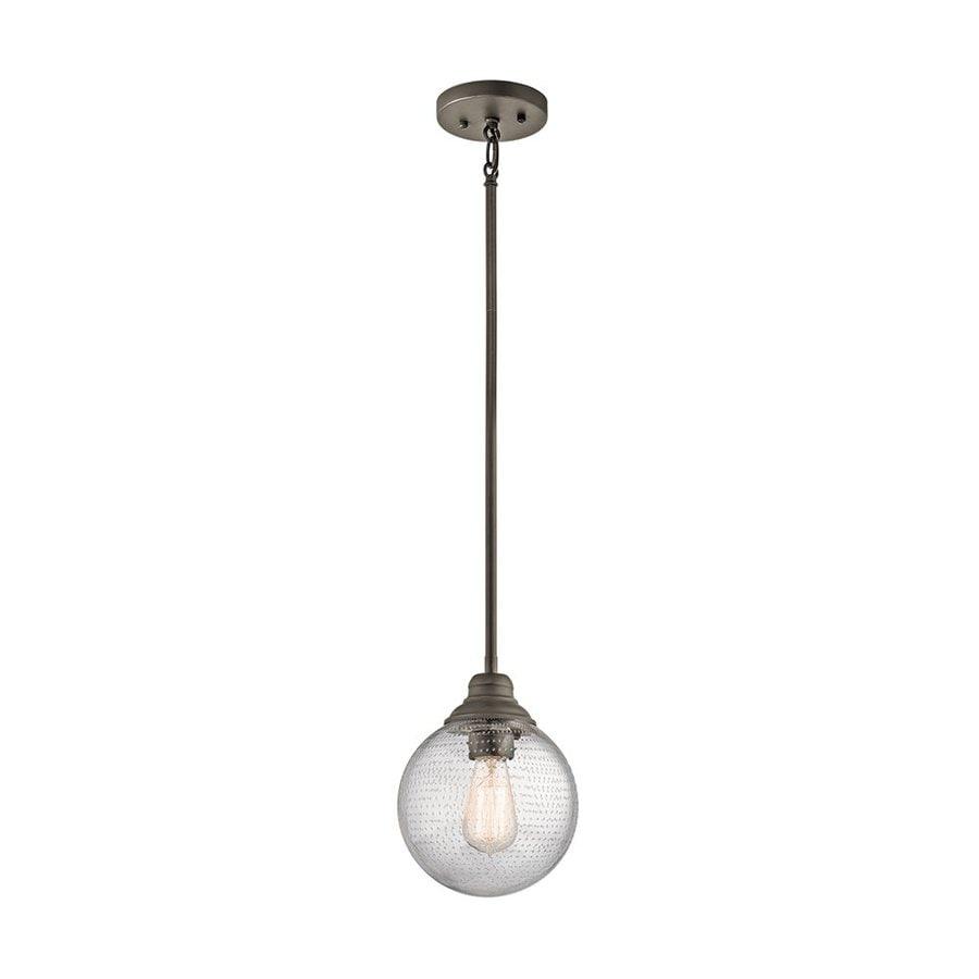 Kichler Penelope 7.75-in Olde Bronze Vintage Hardwired Mini Seeded Glass Orb Pendant
