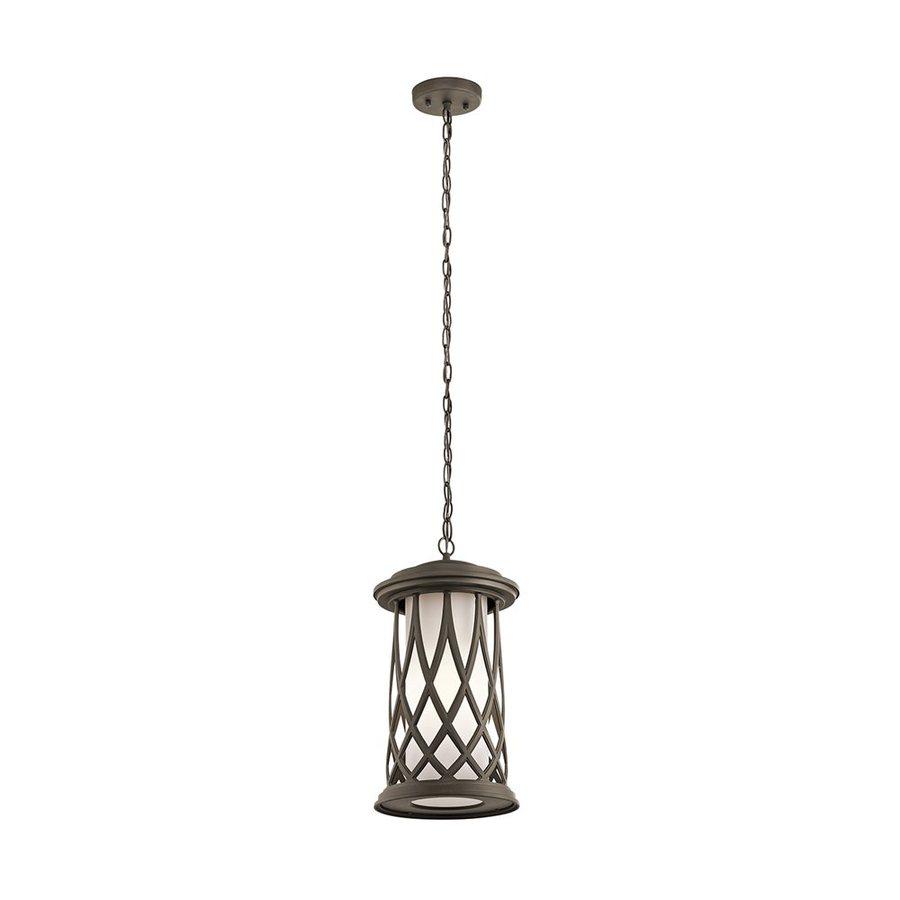 Kichler Lighting Pebble Lane 17.75-in Olde Bronze Outdoor Pendant Light