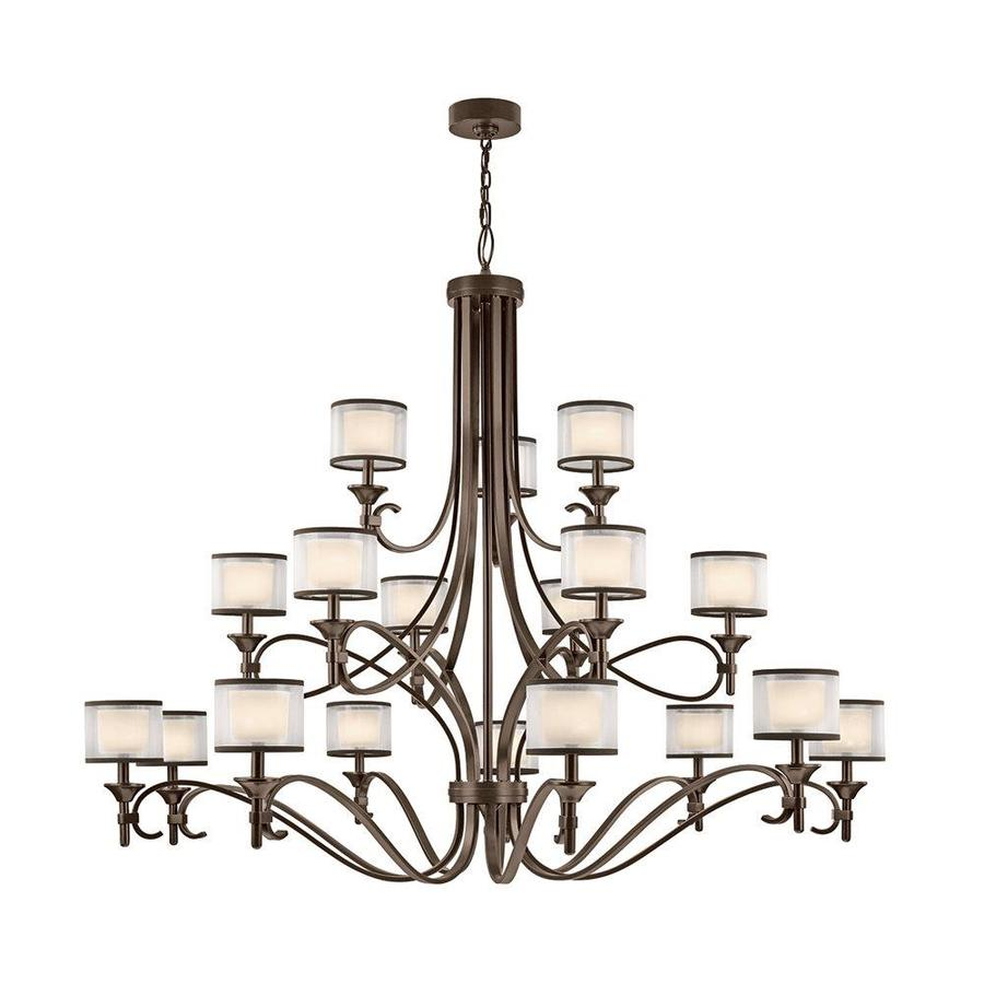 Kichler Lacey 62-in 18-Light Mission Bronze Vintage Tiered Chandelier