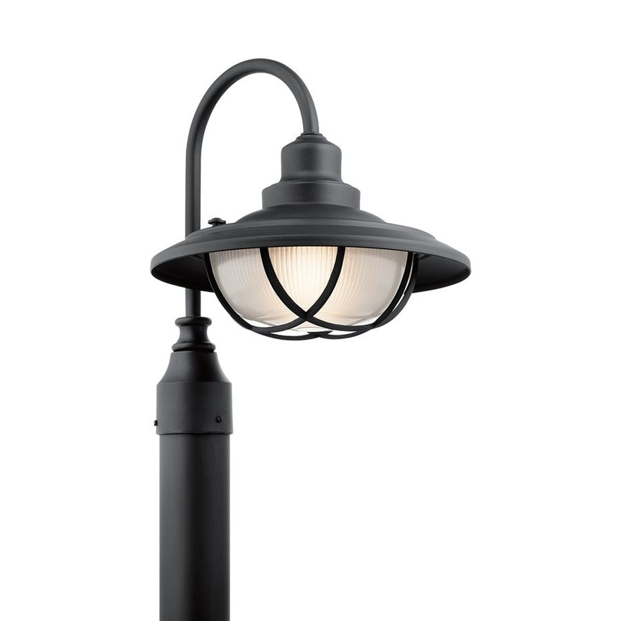 Kichler Harvest Ridge 15.5-in H Textured Black Post Light