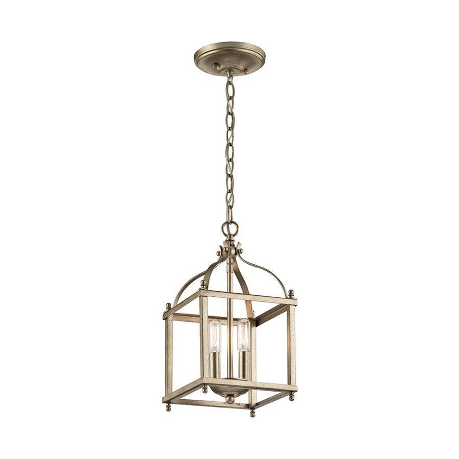 Kichler Lighting Larkin 8-in Sterling Gold Vintage Hardwired Mini Cage Pendant