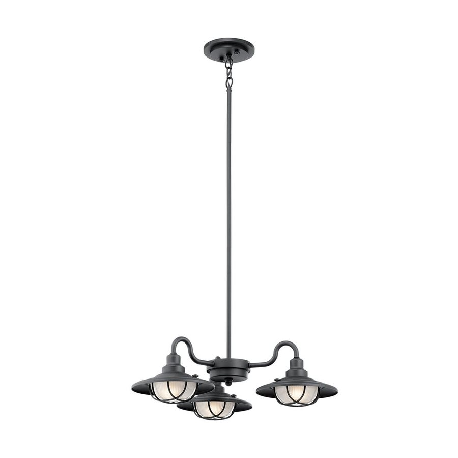 Kichler Lighting Harvest Ridge 7.25-in Textured Black Outdoor Pendant Light