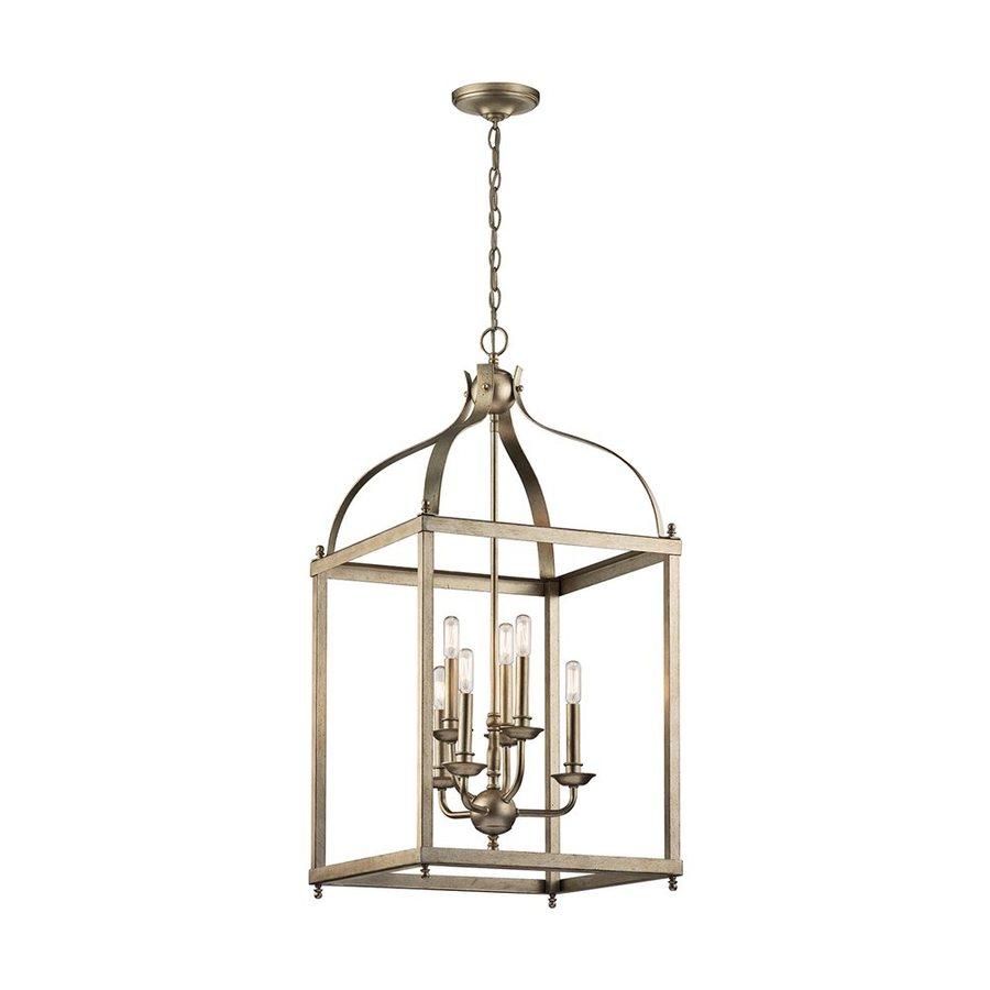 Kichler Lighting Larkin 18-in Sterling Gold Vintage Hardwired Single Cage Pendant