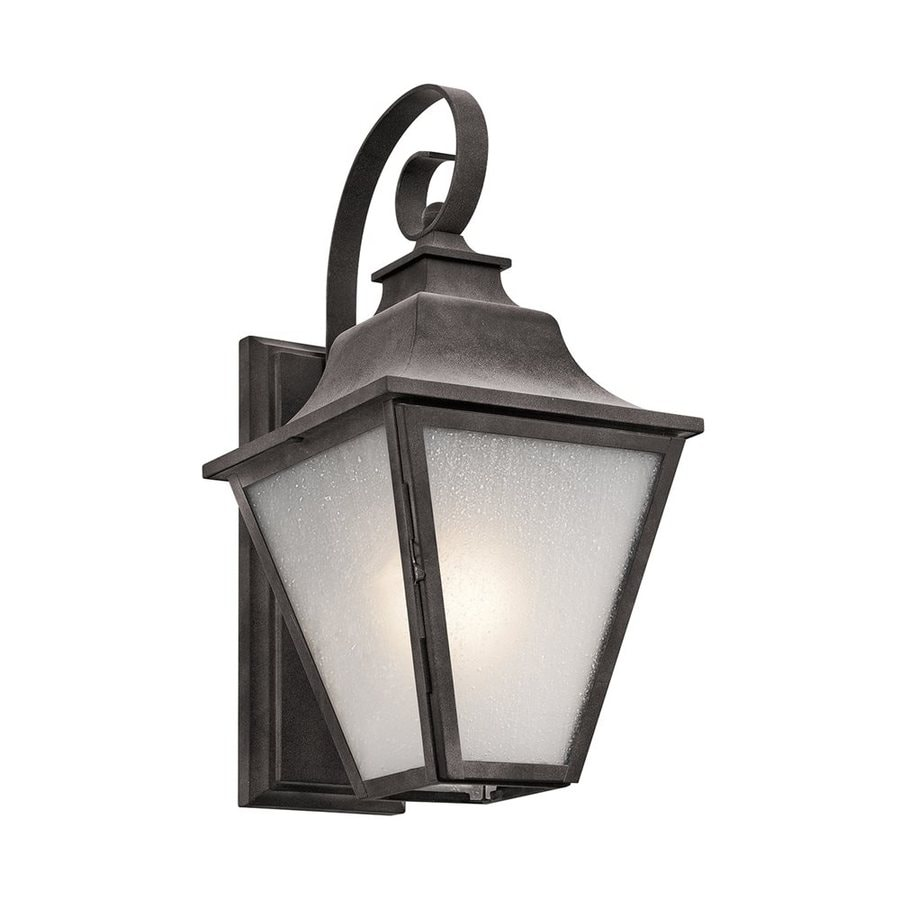 Kichler Northview 17.25-in H Weathered Zinc Outdoor Wall Light
