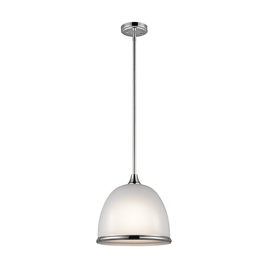 Kichler Rory 12-in Chrome Hardwired Single Dome Pendant