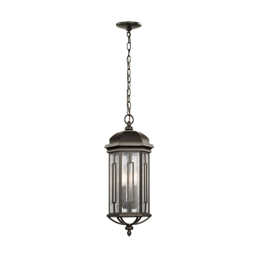 Shop Kichler Galemore Olde Bronze Outdoor Pendant Light At