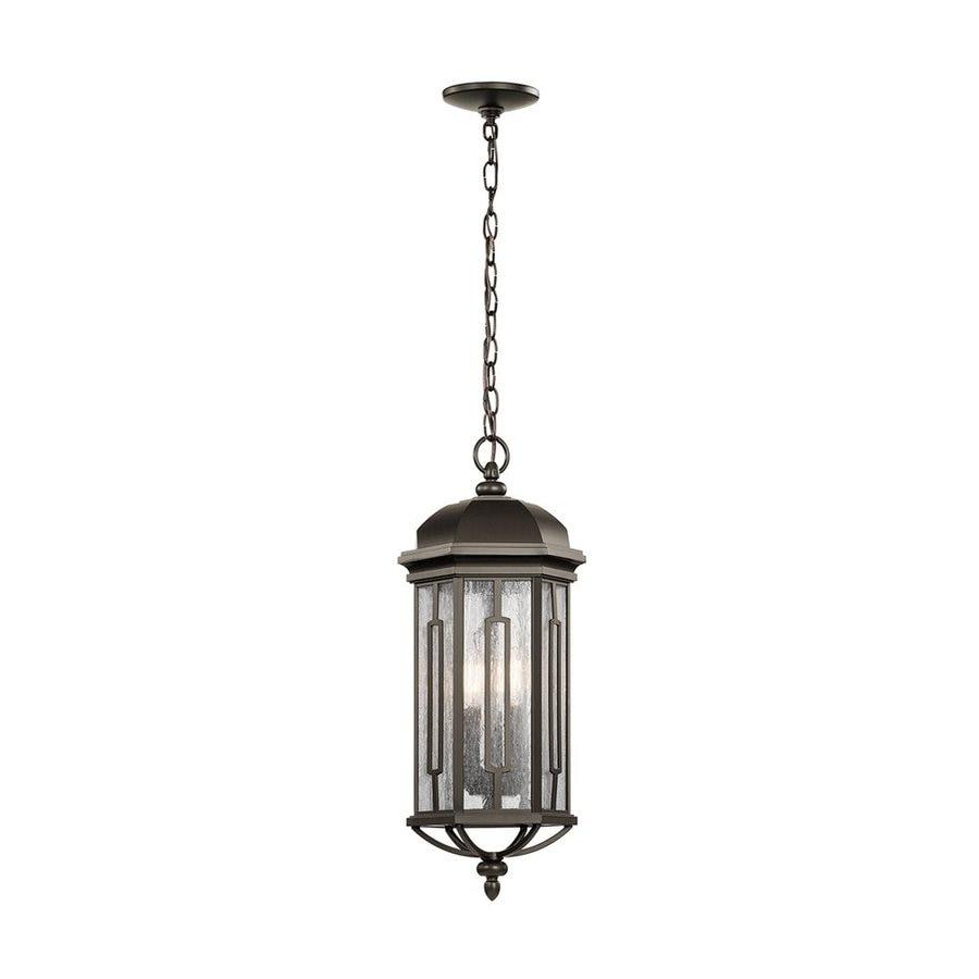 Kichler Galemore 23.75-in Olde Bronze Outdoor Pendant Light