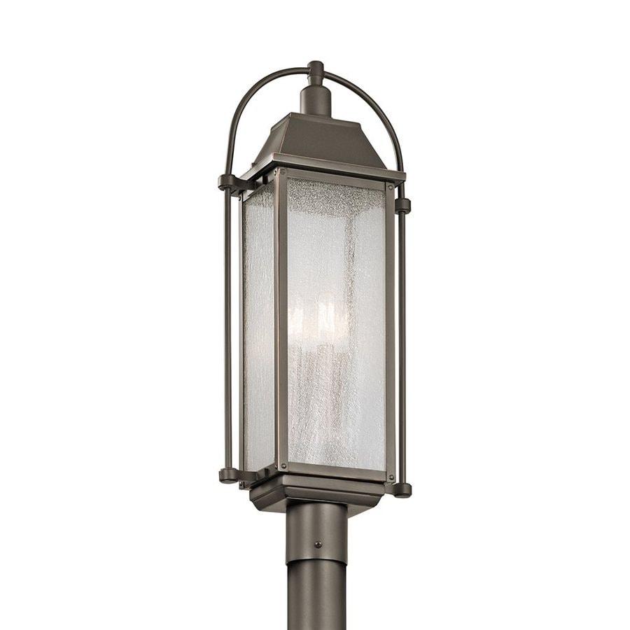 Kichler Harbor Row 27.25-in H Olde Bronze Post Light