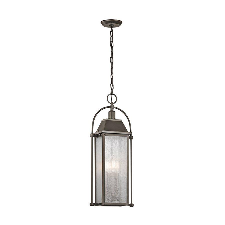 Kichler Lighting Harbor Row 25.75-in Olde Bronze Outdoor Pendant Light