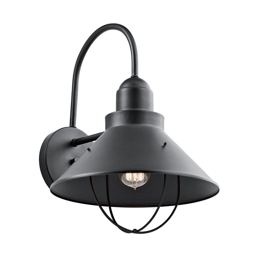 Kichler Seaside 16.5-in H Black Outdoor Wall Light