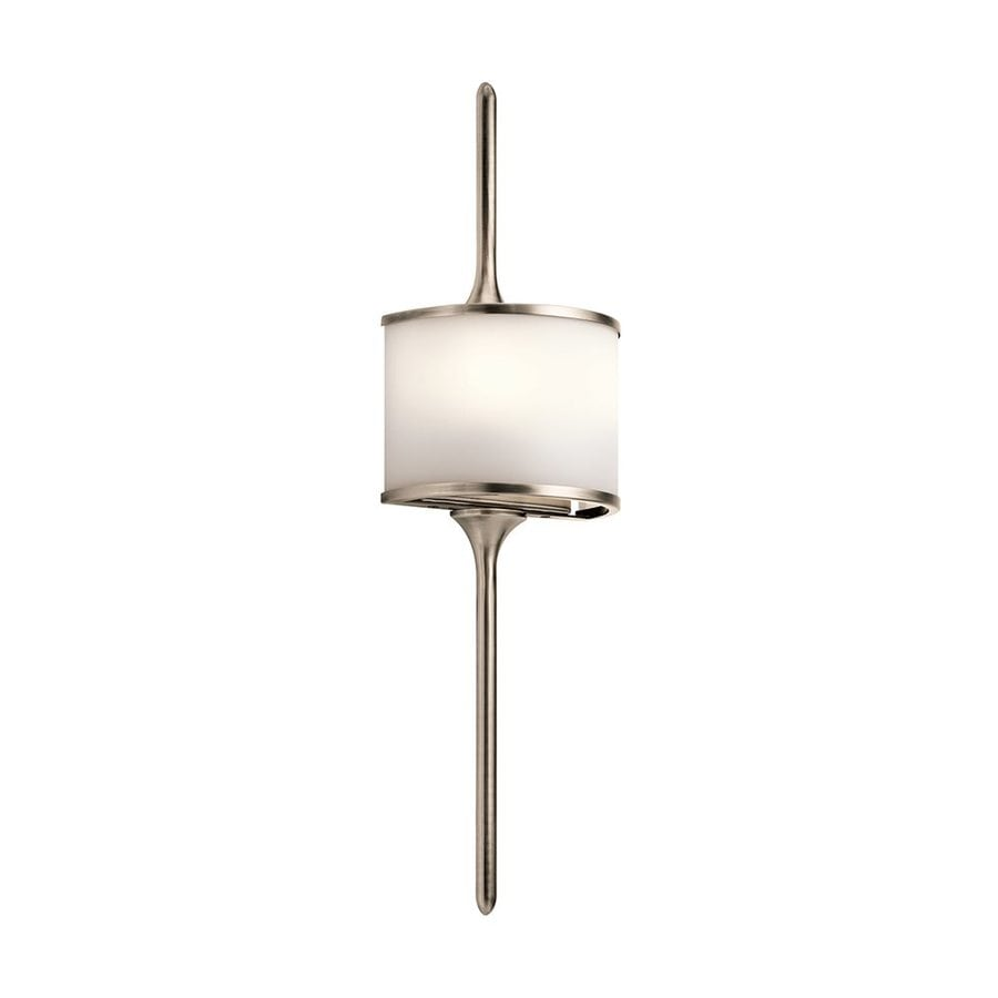 Kichler Lighting Mona 6.5-in W 1-Light Classic Pewter Pocket Wall Sconce