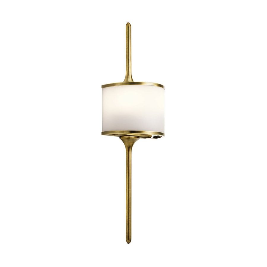 Kichler Mona 6.5-in W 1-Light Natural Brass Pocket Wall Sconce