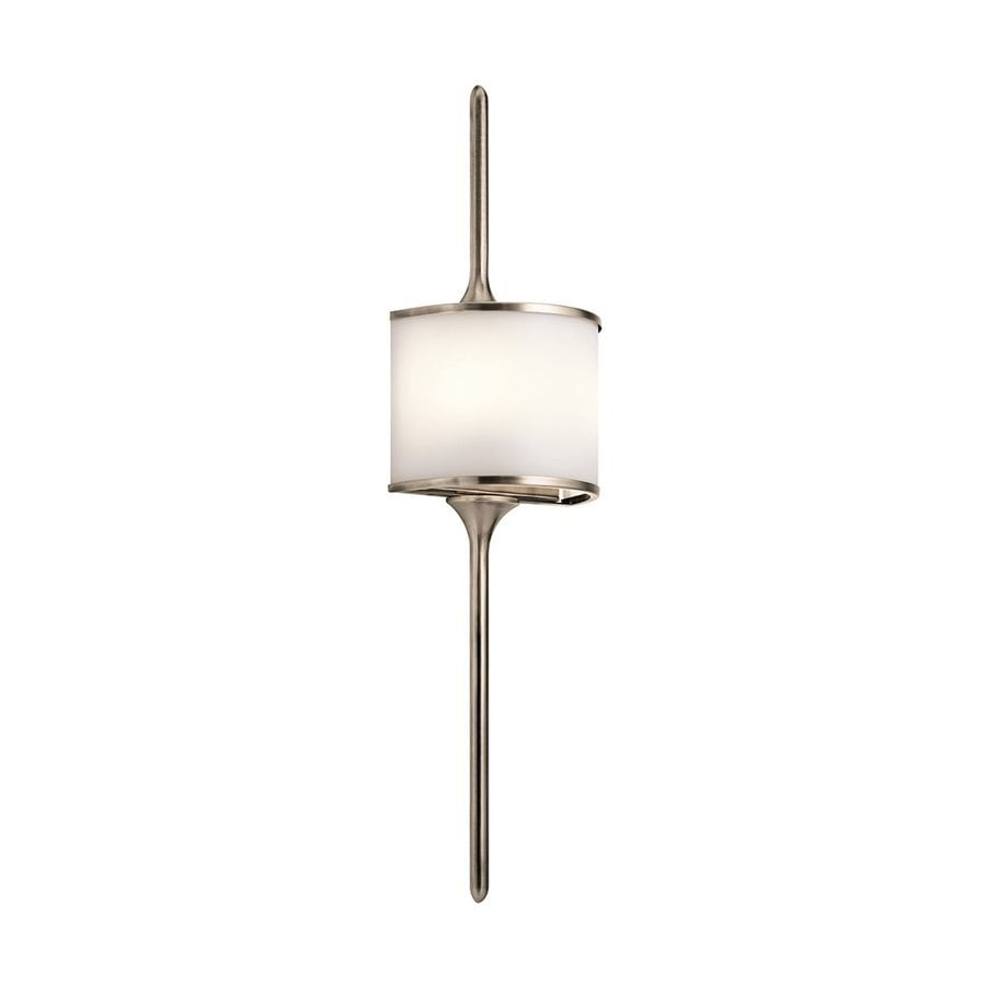 Kichler Mona 8-in W 1-Light Classic pewter Pocket Wall Sconce
