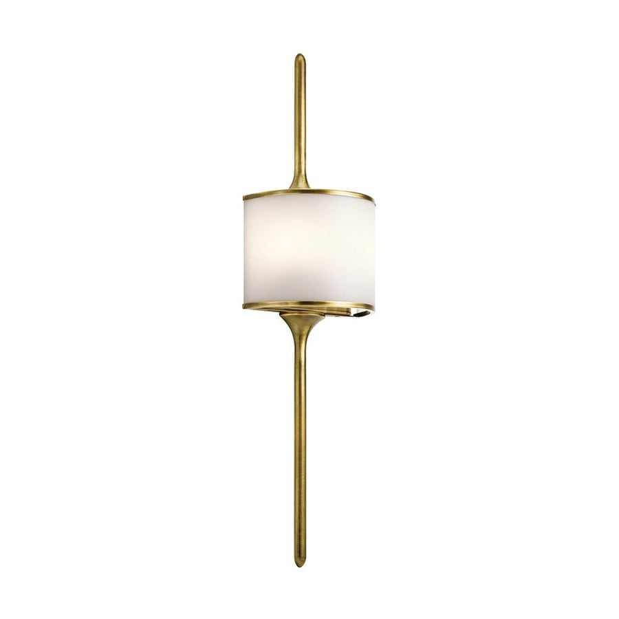 Kichler Lighting Mona 8-in W 1-Light Natural Brass Pocket Wall Sconce