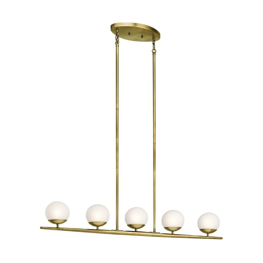 Shop Kichler Jasper In W Light Natural Brass Kitchen Island - Brass kitchen light fixtures