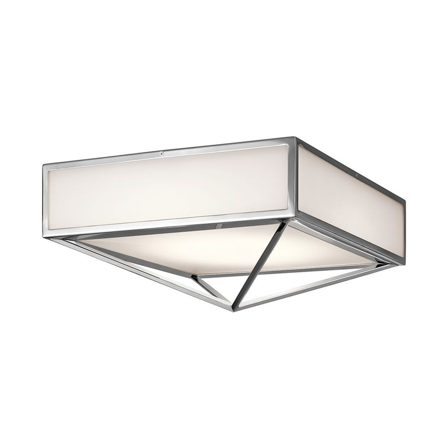 Kichler Savoca 18-in W Chrome LED Flush Mount Light